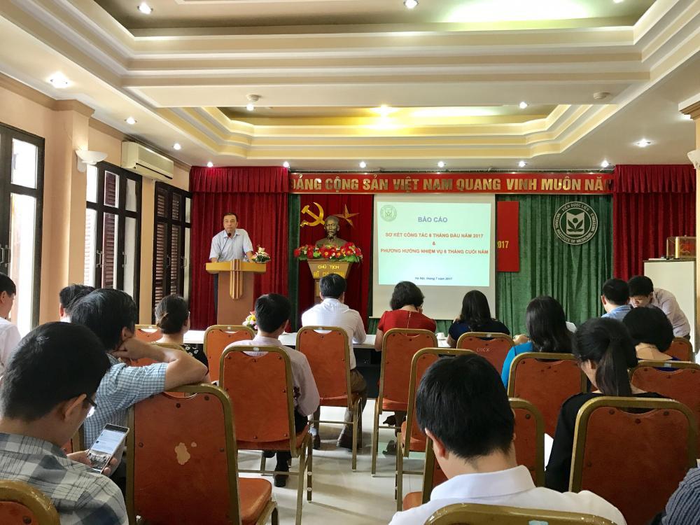 Viện Dược liệu tổ chức Hội nghị sơ kết công tác Đảng và công tác 6 tháng đầu năm, triển khai nhiệm vụ 6 tháng cuối năm 2017
